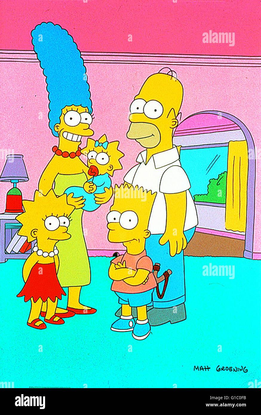 Simpsons, Die / The Simpsons,..Die Simpsons wandern in die Primetime.. - Stock Image