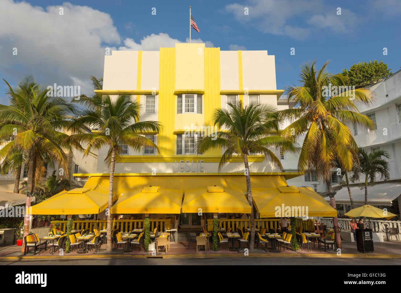 leslie hotel ocean drive south beach miami beach florida