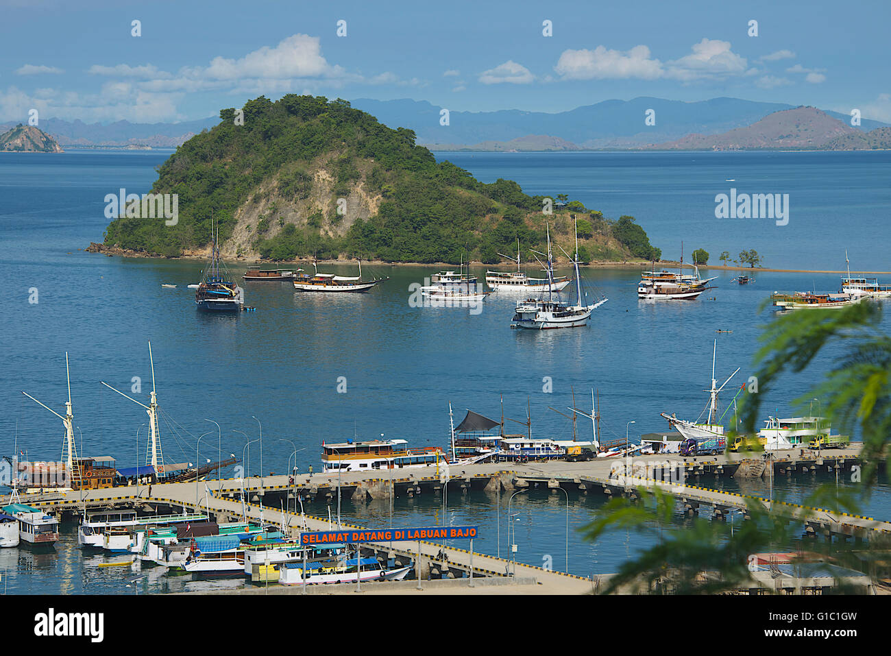 Labuan Bajo port Flores Indonesia - Stock Image