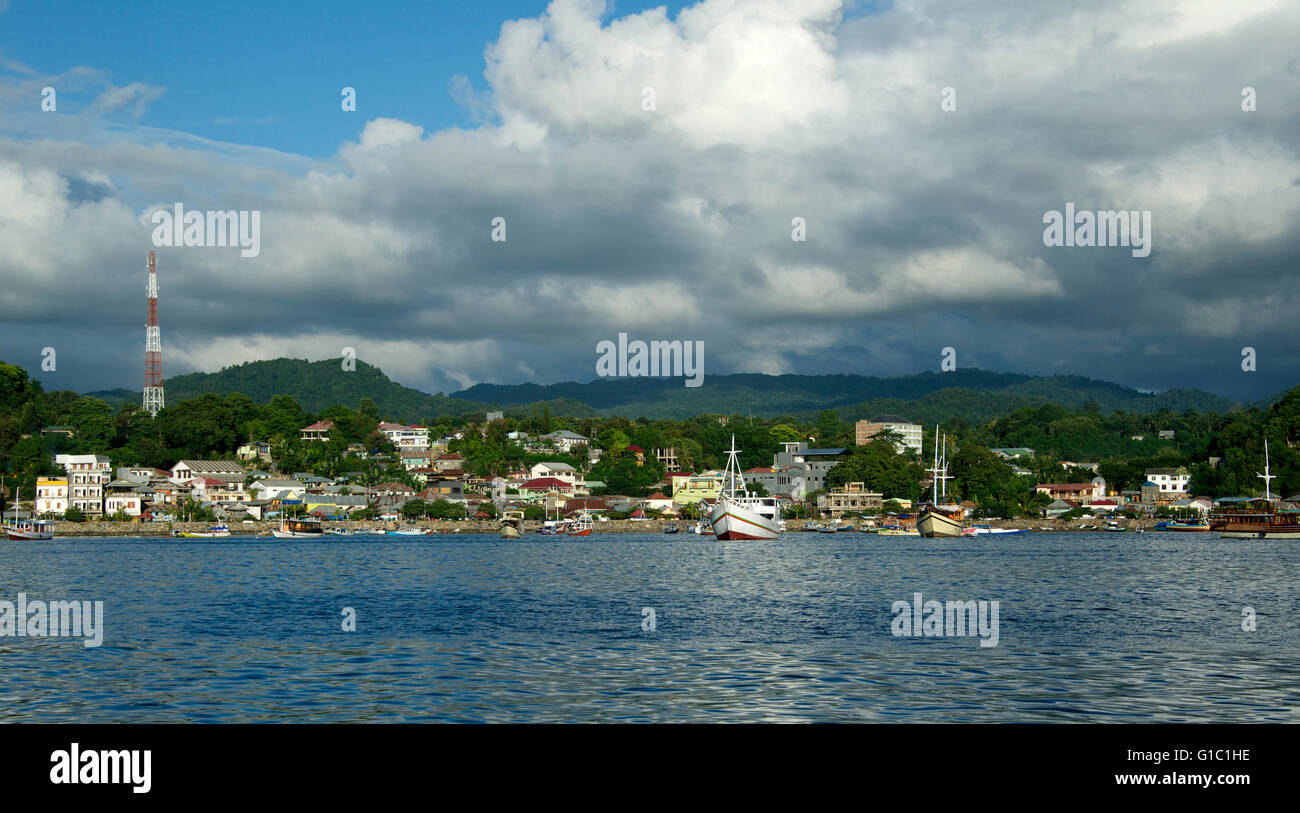 Panoramic view Labuan Bajo Flores Indonesia - Stock Image