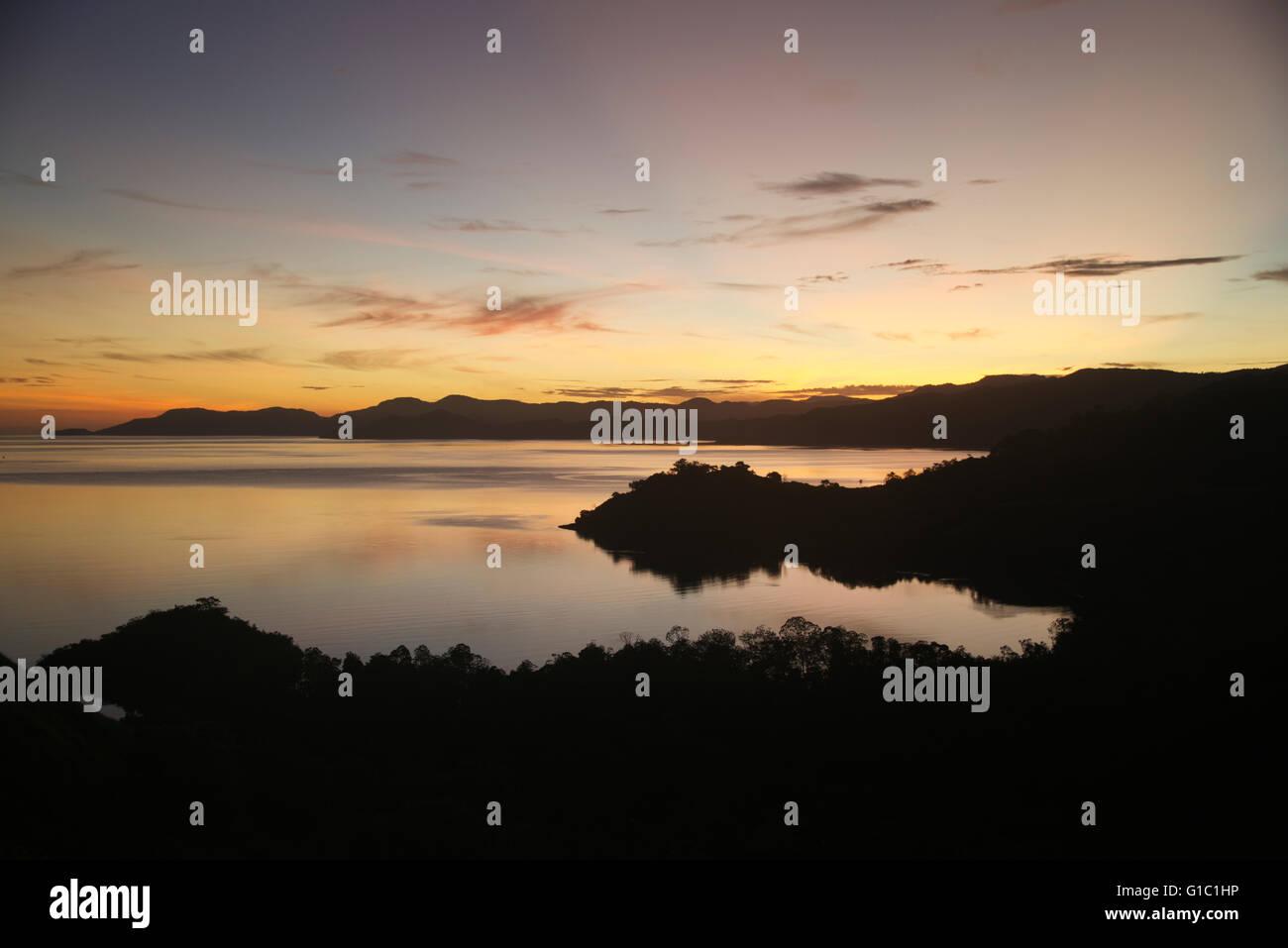 Dawn Flores Lesser Sunda Islands Indonesia - Stock Image