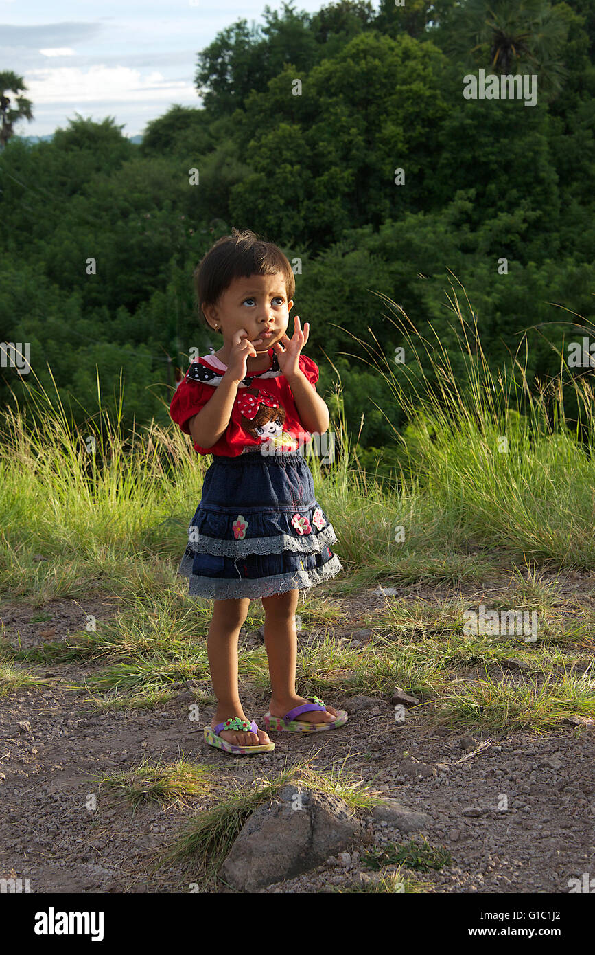Small girl Labuan Bajo Flores Indonesia - Stock Image