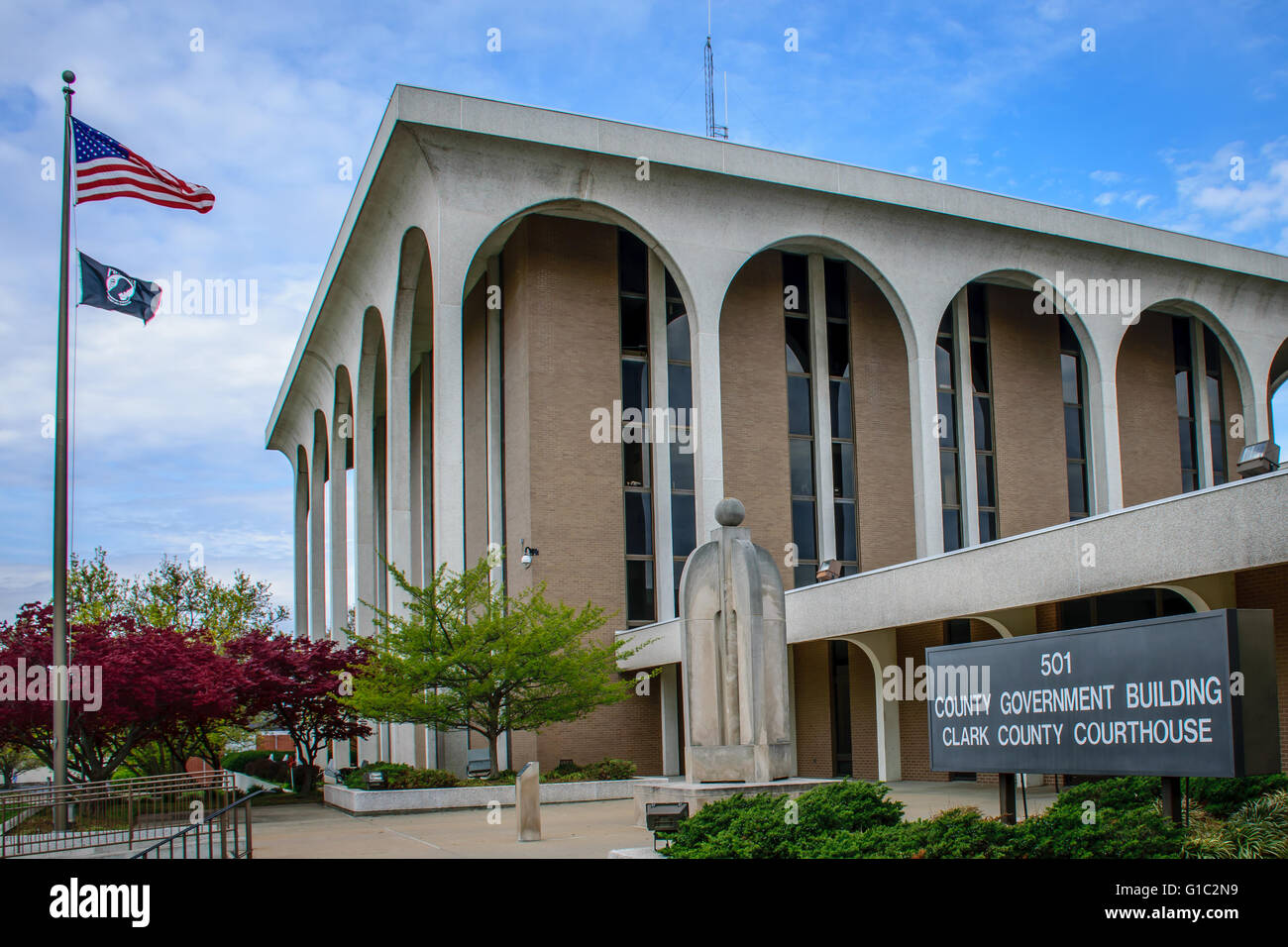 Jeffersonville, Indiana, USA - April 10, 2016: Clark County Indiana Courthouse. Filming location of the unscripted - Stock Image