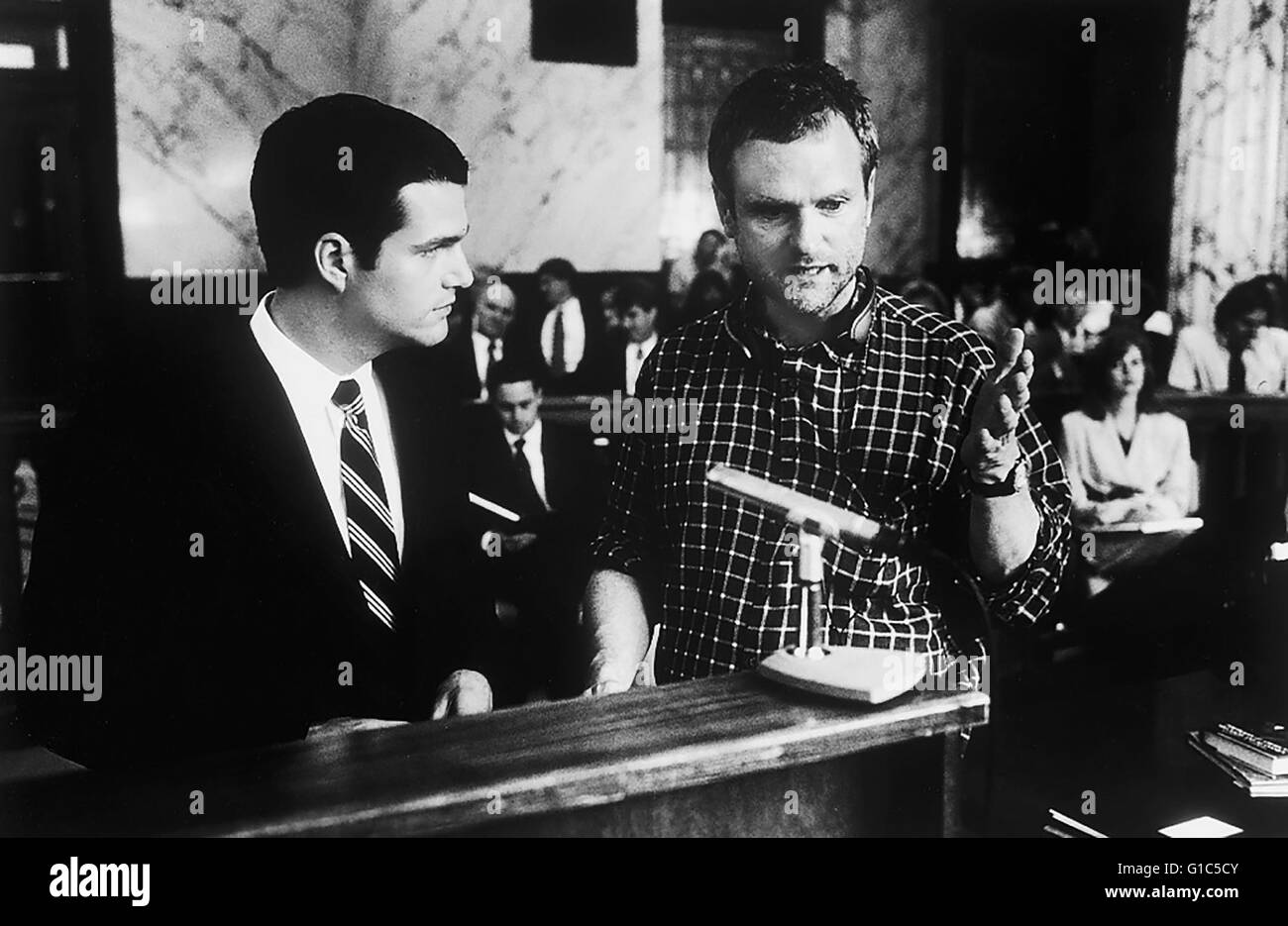 Kammer, Die / Chris O'Donnell / James Foley / Set,James Foley weist Chris O'Donnell in eine Szene von 'Die - Stock Image
