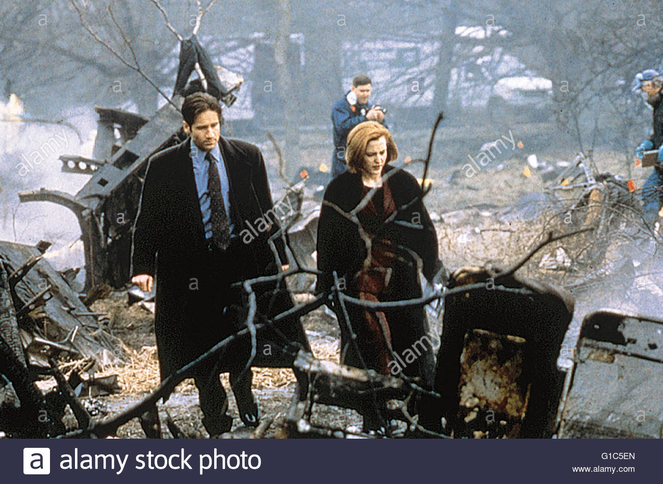 Akte X - Tempus Fugit / David Duchovny / Gillian Anderson / The X-Files, - Stock Image
