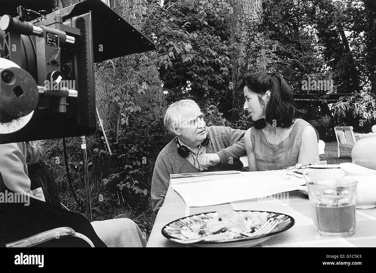 Vollmond / Set / Fredi Murer / Lilo Baur,Fredi Murer gibt seiner Schauspielerin Lilo Baur genaue Anweisungen - Stock Image