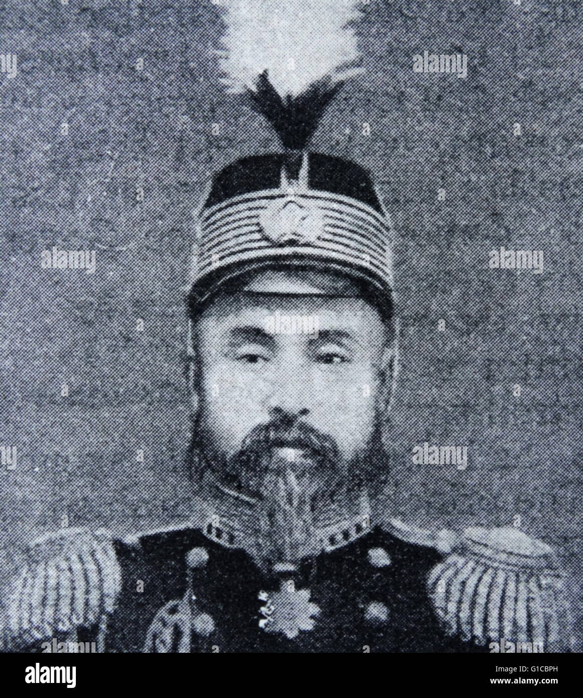 Photographic portrait of Prince and society leader, Min Yong Quan. Dated 19th Century - Stock Image