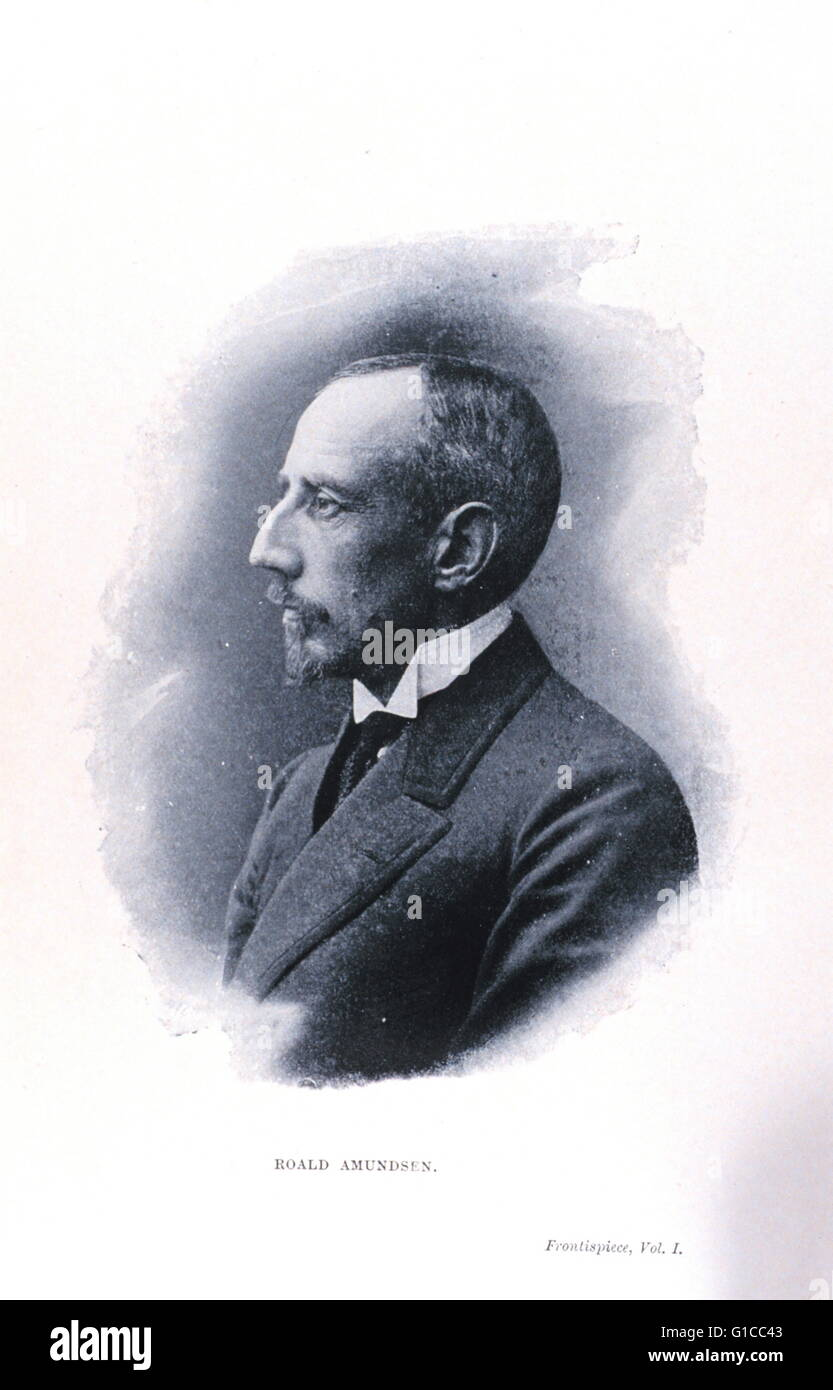 Frontispiece portrait of Roald Amundsen, 1872-1928 - Stock Image