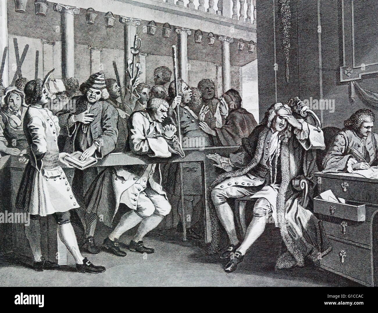 The Industrious 'Prentice Alderman of London, by William Hogarth (1697 – 1764). English painter, printmaker, pictorial Stock Photo