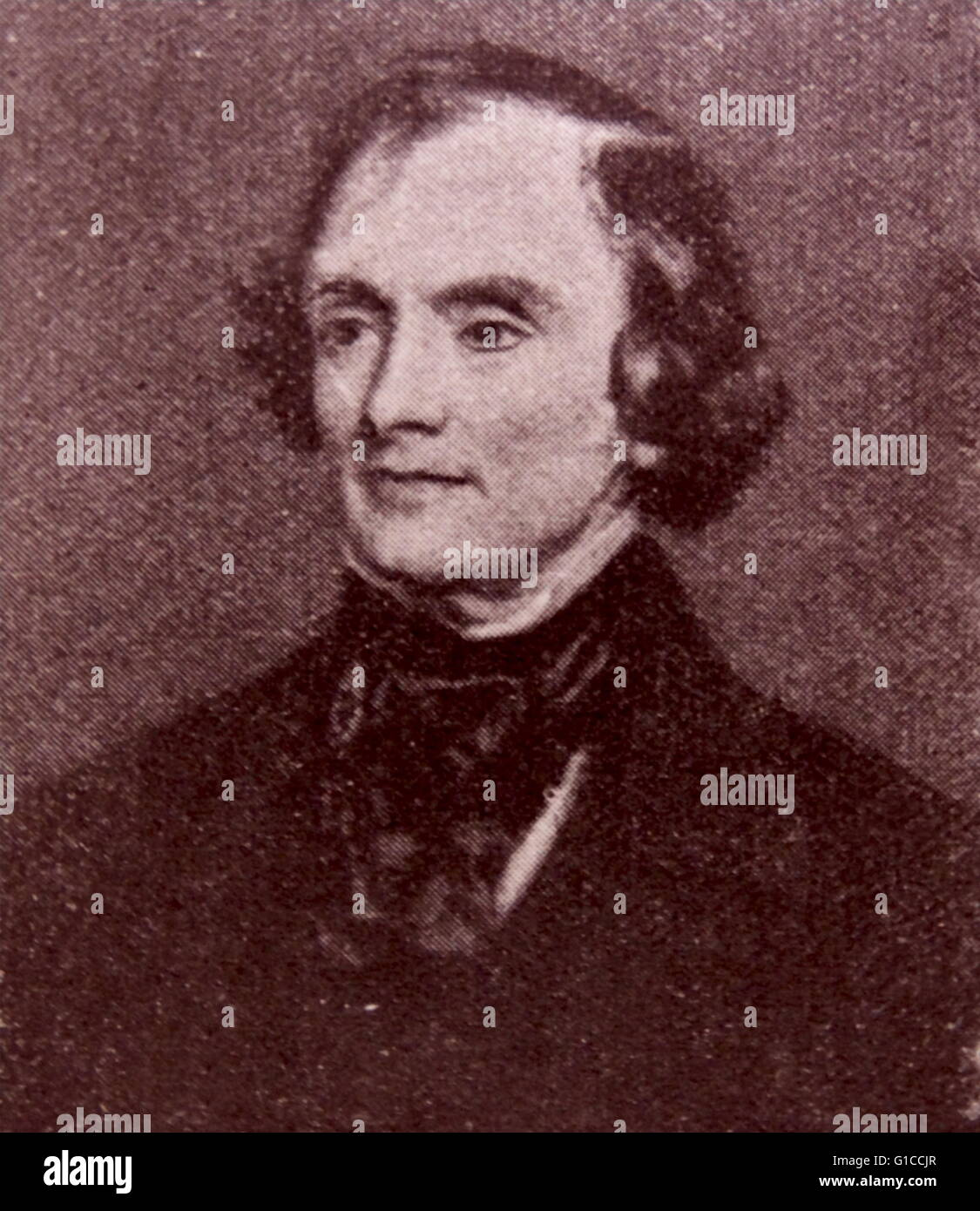 Portrait of John Russell, 1st Earl Russell (1792-1878) a leading Whig and Liberal politician who served as Prime - Stock Image