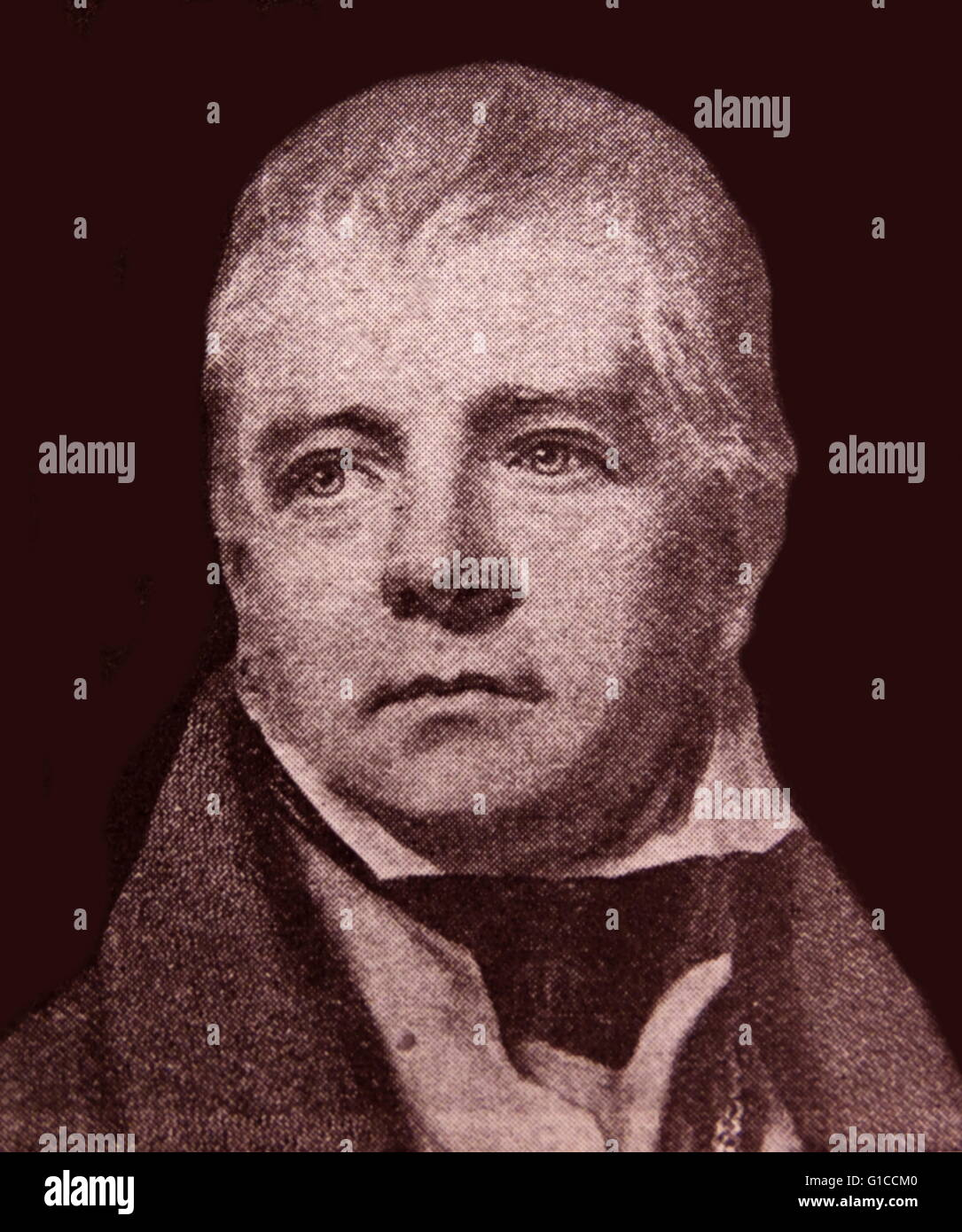 Portrait of Sir Walter Scott, 1st Baronet (1771-1832) Scottish historical novelist, playwright and poet. Dated 19th - Stock Image