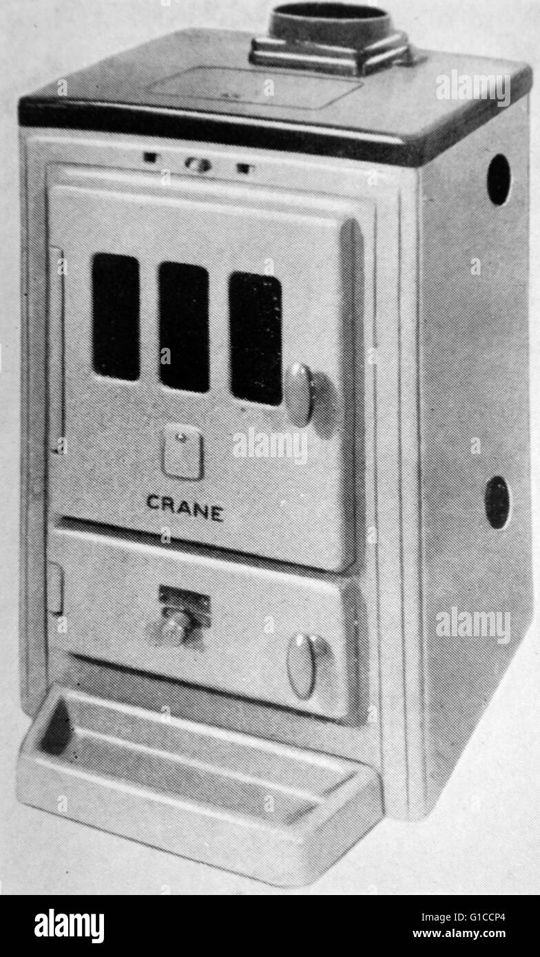 Photograph of a 1950s hot water storage cylinder. Dated 20th Century ...