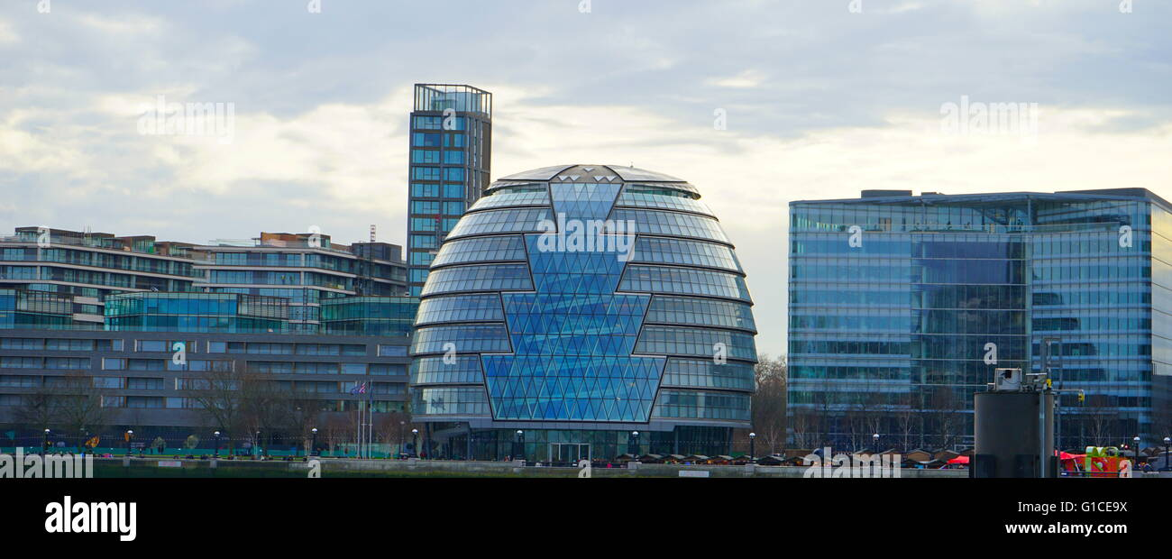 View of the City Hall of London office of the London Mayor. Dated 21st Century - Stock Image