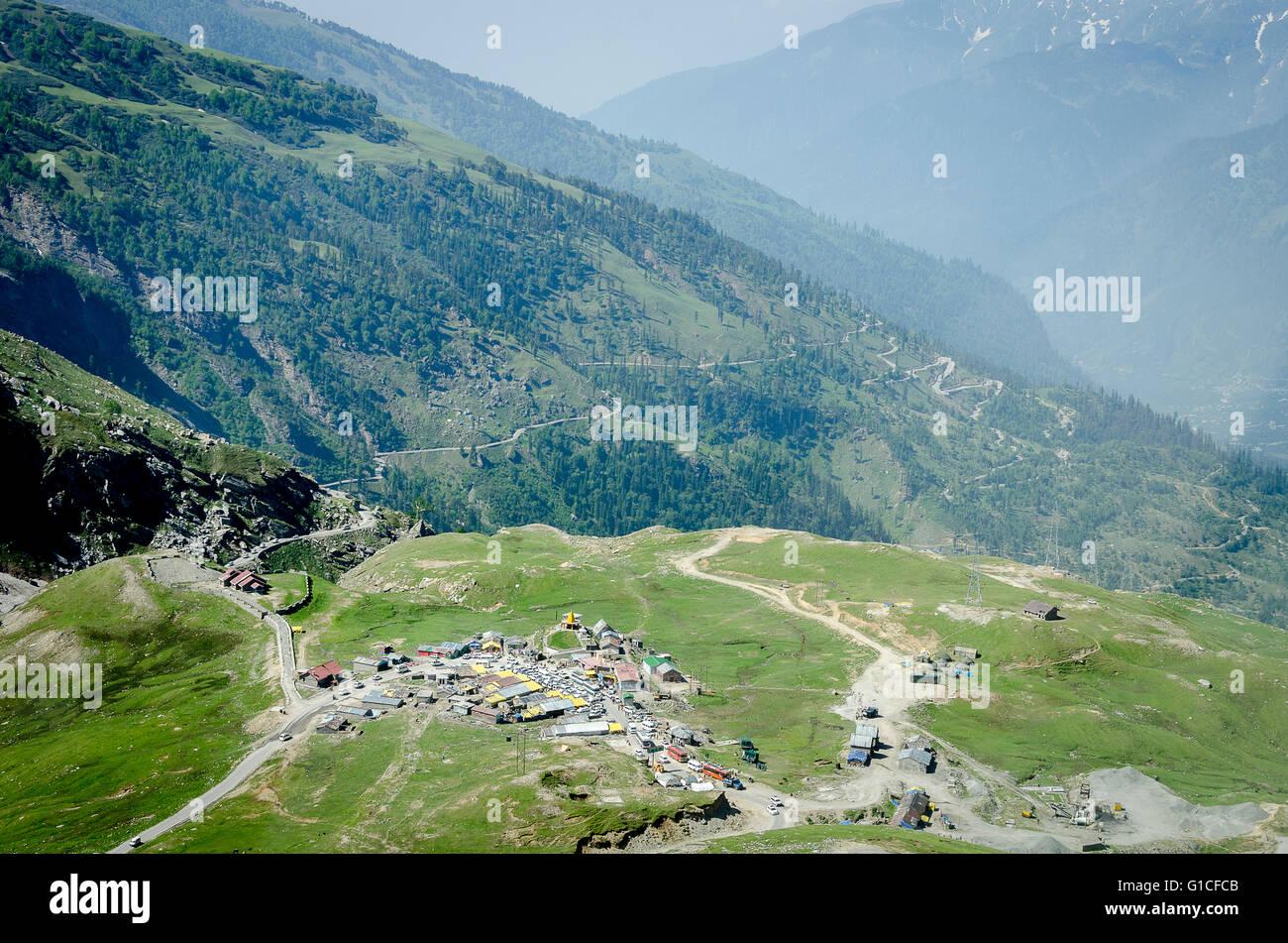 Road to the Rotang Pass from Manali, Manali - Leh Road, Himachal Pradesh, India, - Stock Image