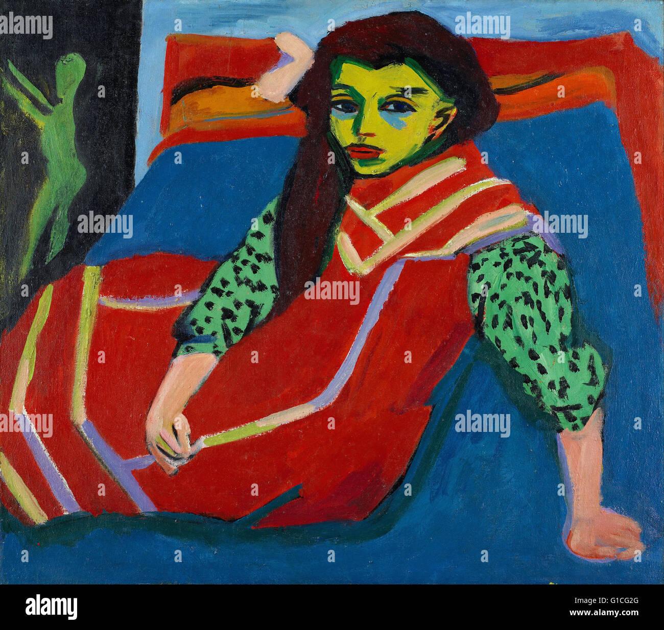 Ernst Ludwig Kirchner - Seated Girl (Fränzi Fehrmann) - Minneapolis Institute of Art - Stock Image