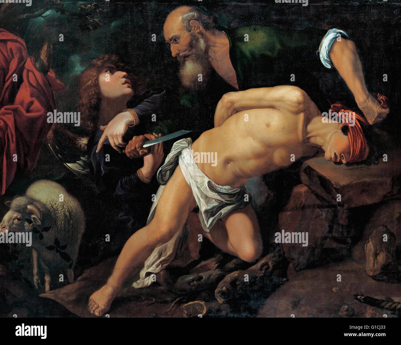 Pedro Orrente - The Sacrifice of Isaac - Museo de Bellas Artes de Bilbao - Stock Image