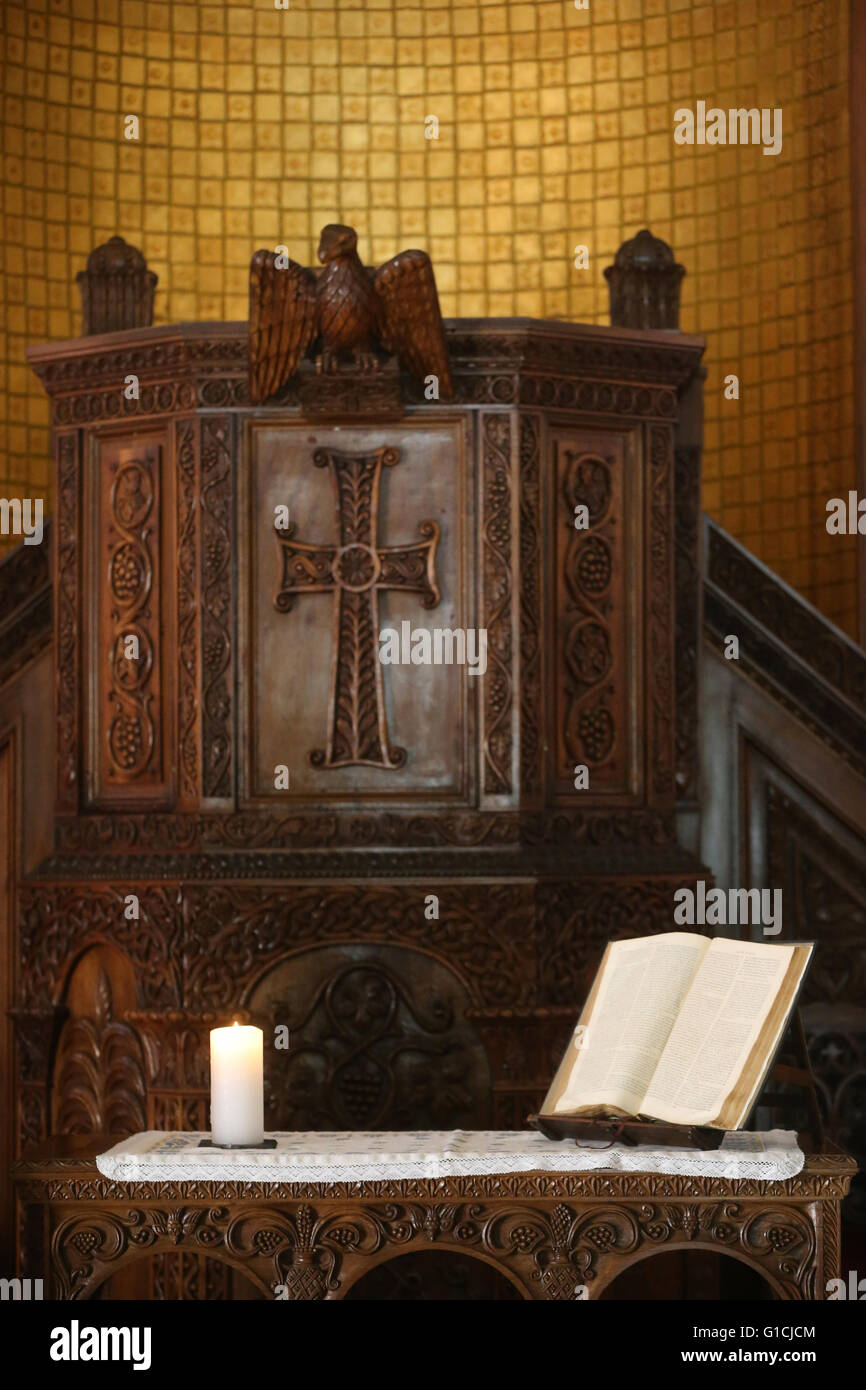 carved wooden pulpit stock photos carved wooden pulpit stock