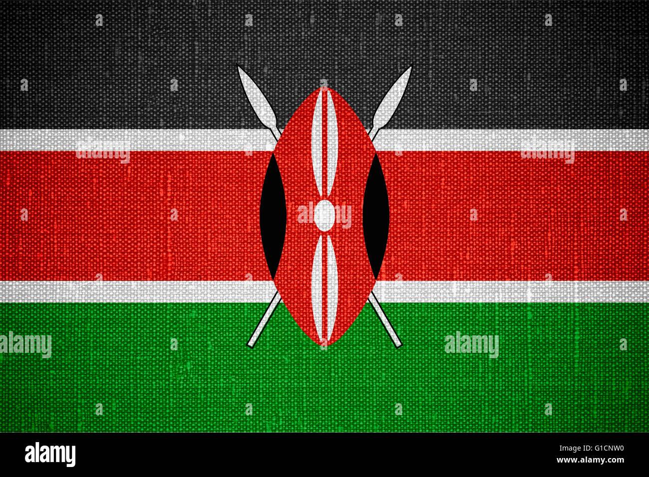 flag of Kenya or Kenyan banner on cnavas background Stock Photo