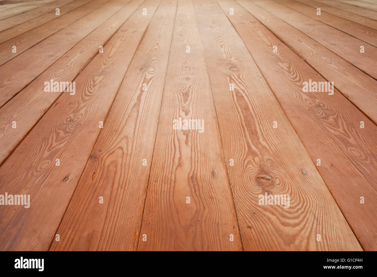 wooden floor background or brown planks texture - Stock Image