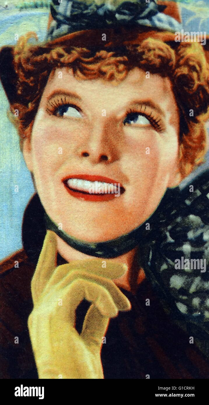 Katharine Hepburn (1907 – 2003) American actress. Known for her fierce independence and spirited personality; Hepburn - Stock Image