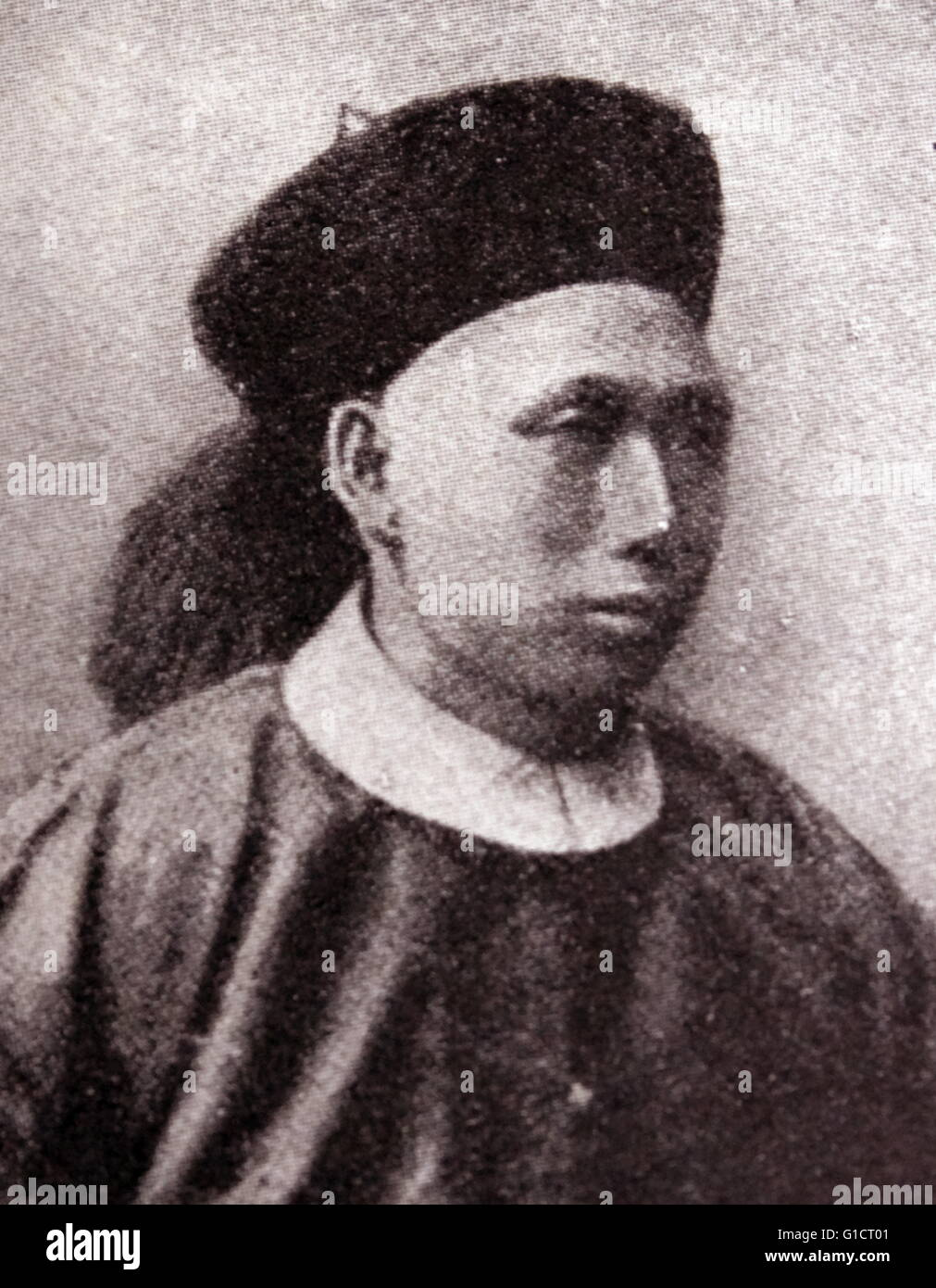 Photographic portrait of Ding Ruchang (1836-1895) a career military officer in the late Qing dynasty military of - Stock Image