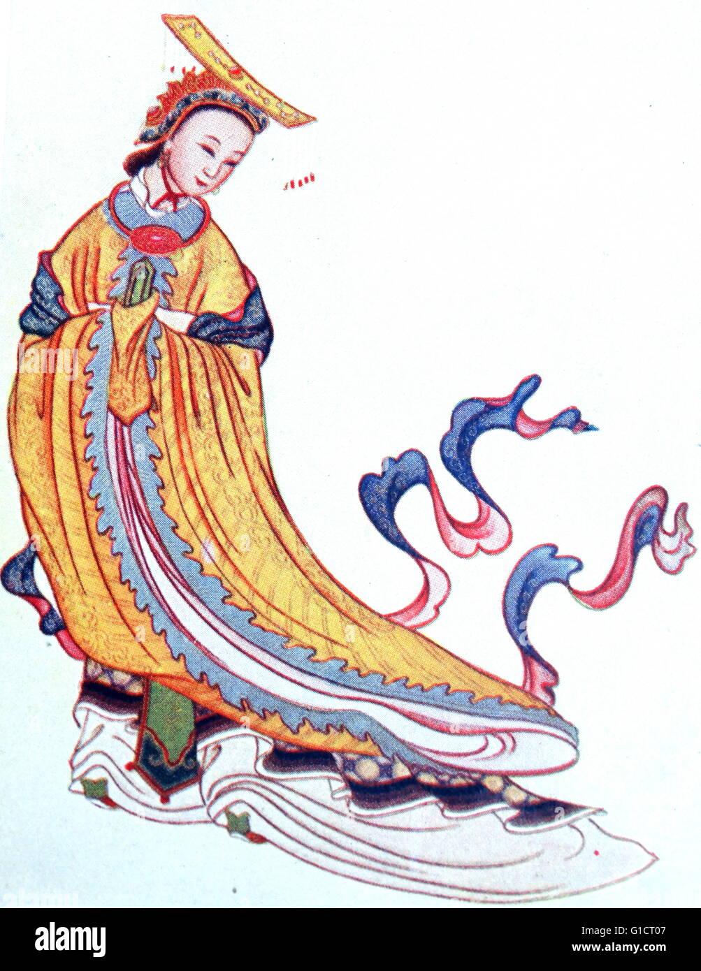 Illustration of Empress Chao Yang - Stock Image