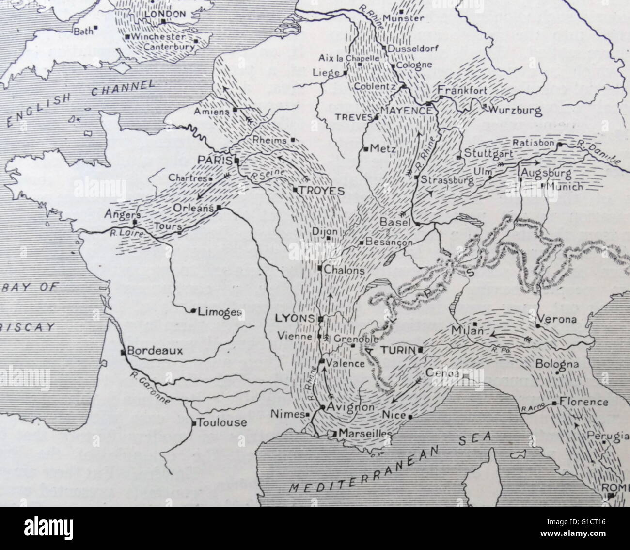 Europe 19th Century Map Stock Photos Europe 19th Century Map Stock