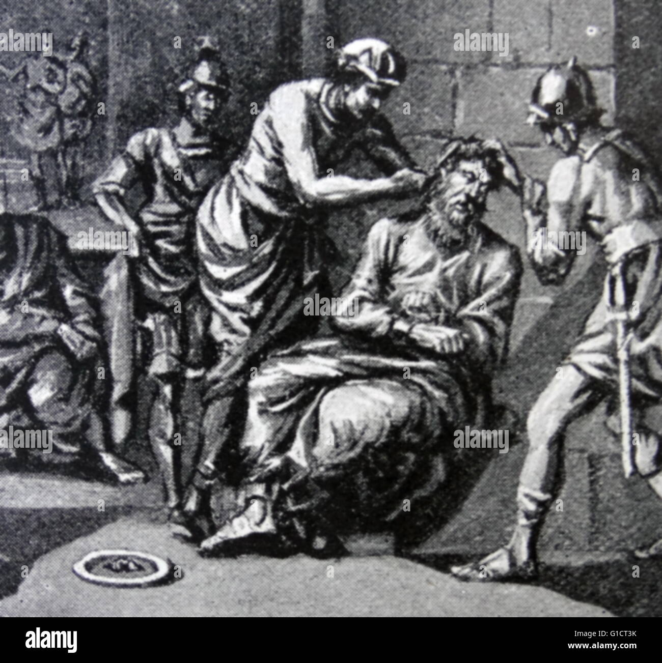 Torture of a Roman prisoner possibly an early Christian circa 200 AD - Stock Image