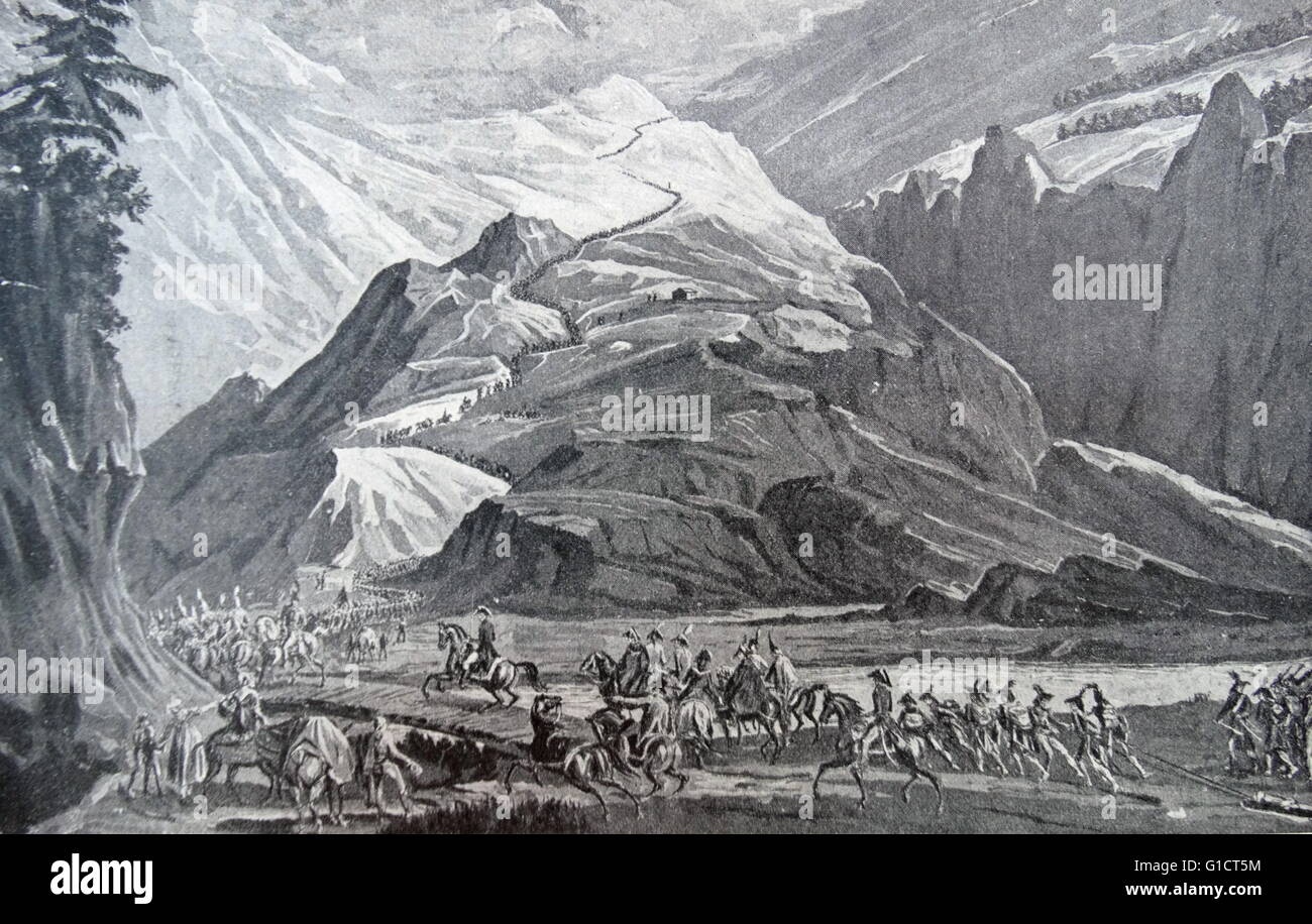 Painting titled 'The Place of Mountains in History: Nature's Barriers to Mau's Expansion Stock Photo