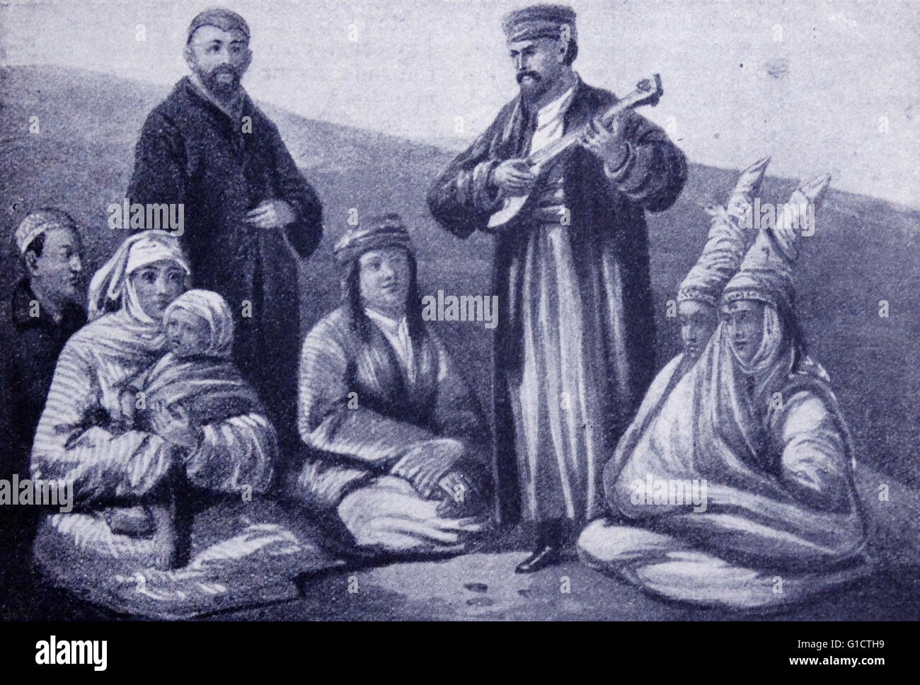 The Kyrgyz people; Kyrgyzstan; Russian Empire 1860 - Stock Image