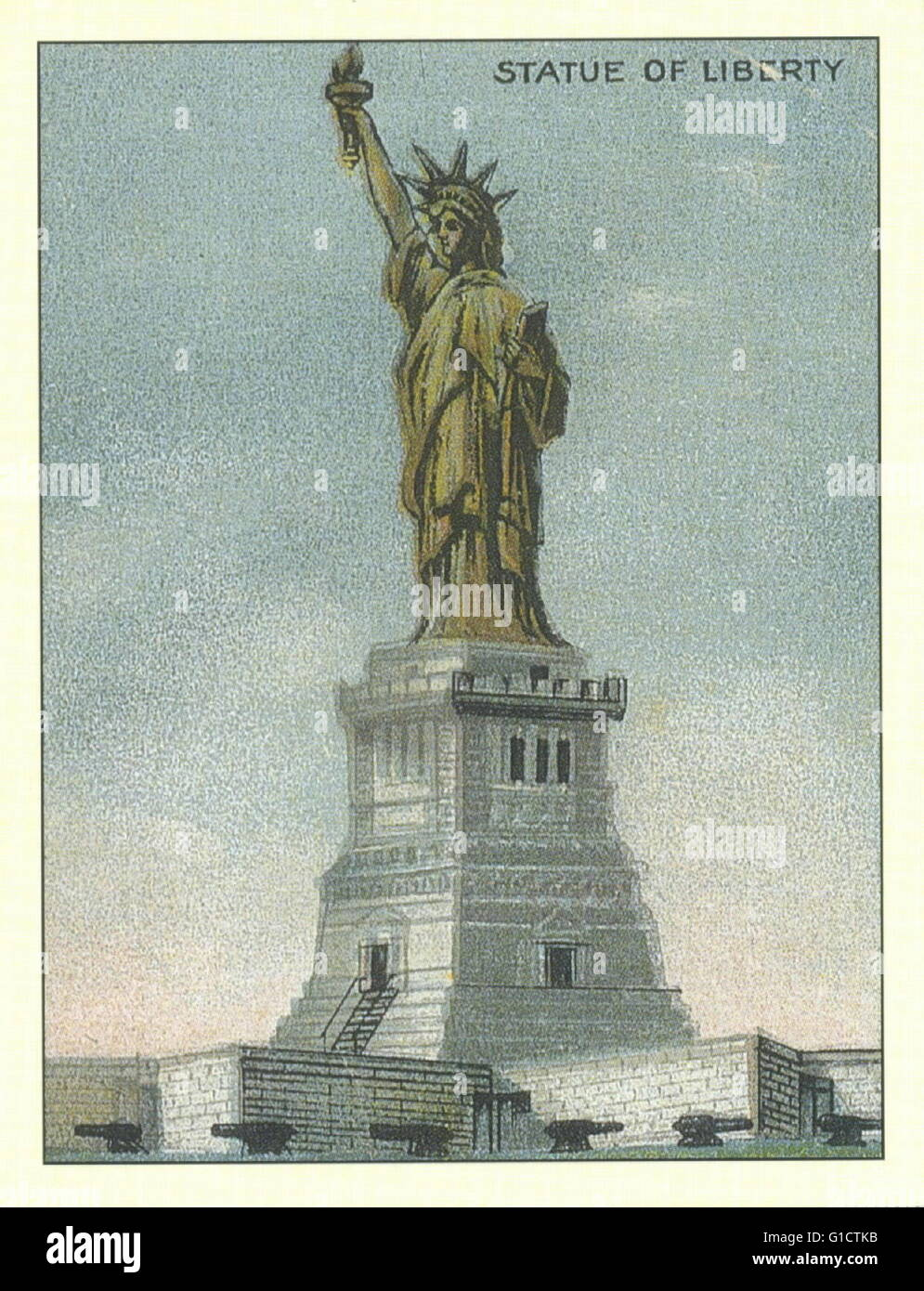 Statue Of Liberty Lighthouse New York Harbour New York 1920 Stock Photo Alamy