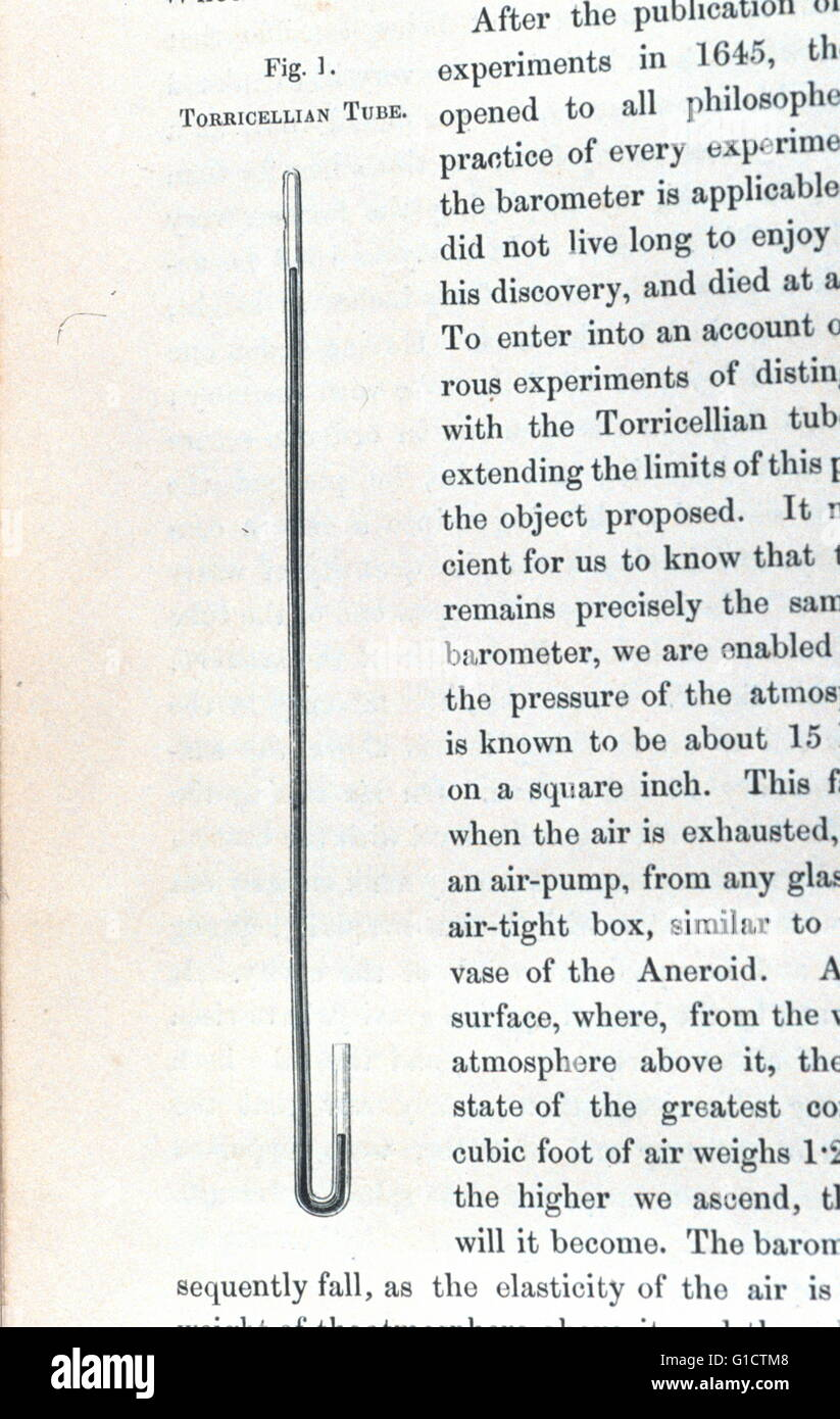 Page from a treatise on the aneroid, a newly invented portable barometer by Edward J. Dent (1790-1853) a famous - Stock Image