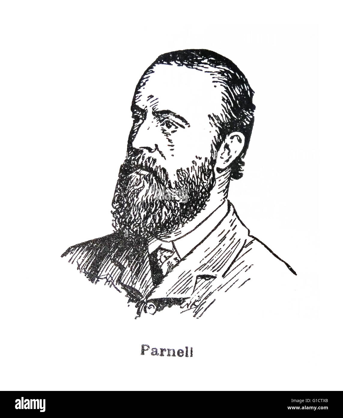 Charles Stewart Parnell (1846-1891); Irish nationalist political leader - Stock Image