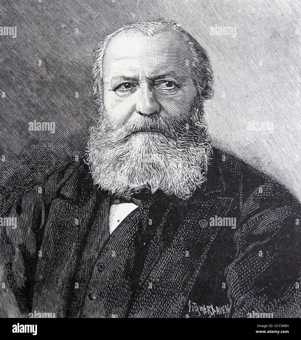 Portrait of Charles-François Gounod (1818-1893) a French composer, known for his Ave Maria, based on a work - Stock Image