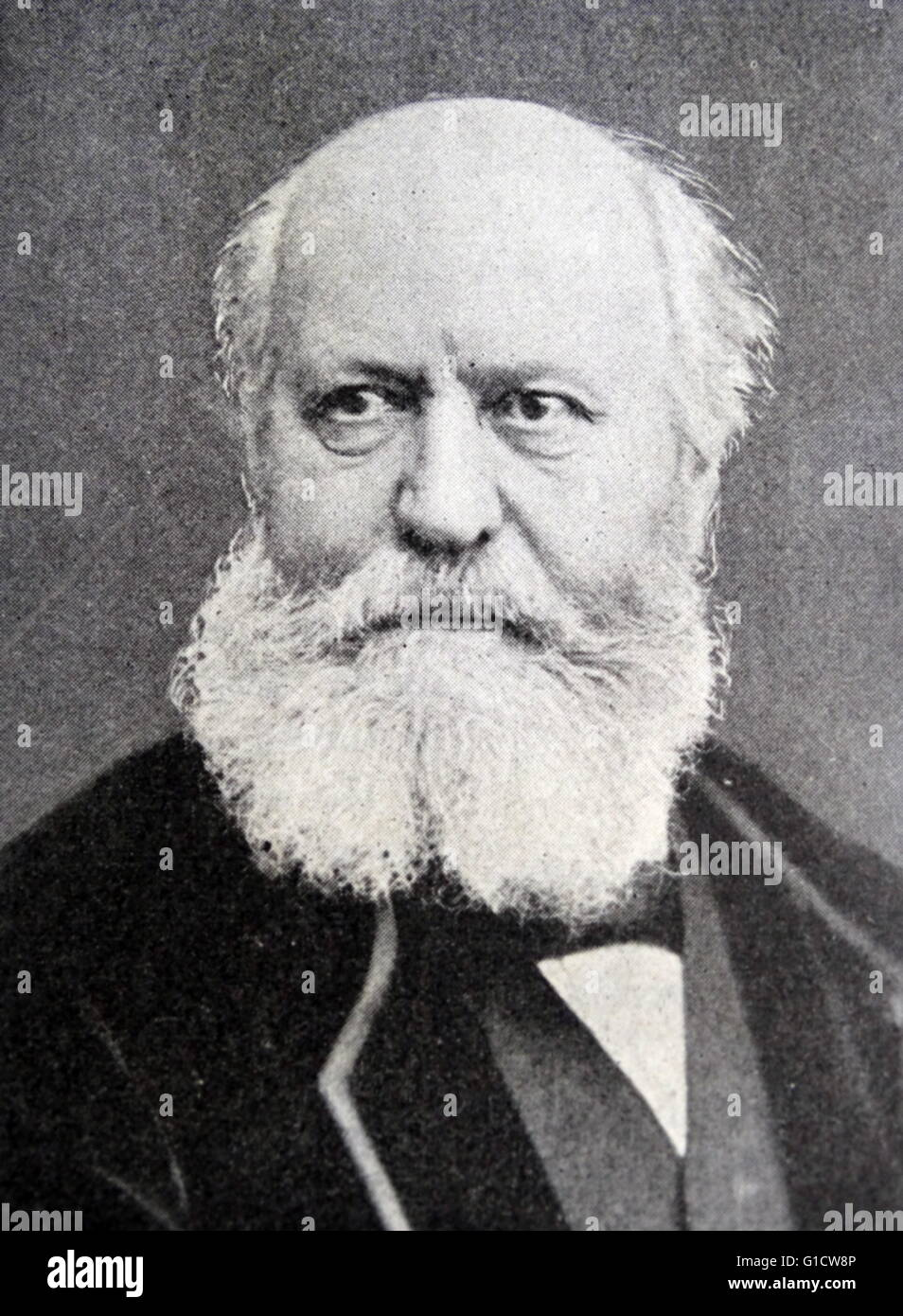 Photographic portrait of Charles-François Gounod (1818-1893) a French composer, known for his Ave Maria, based - Stock Image