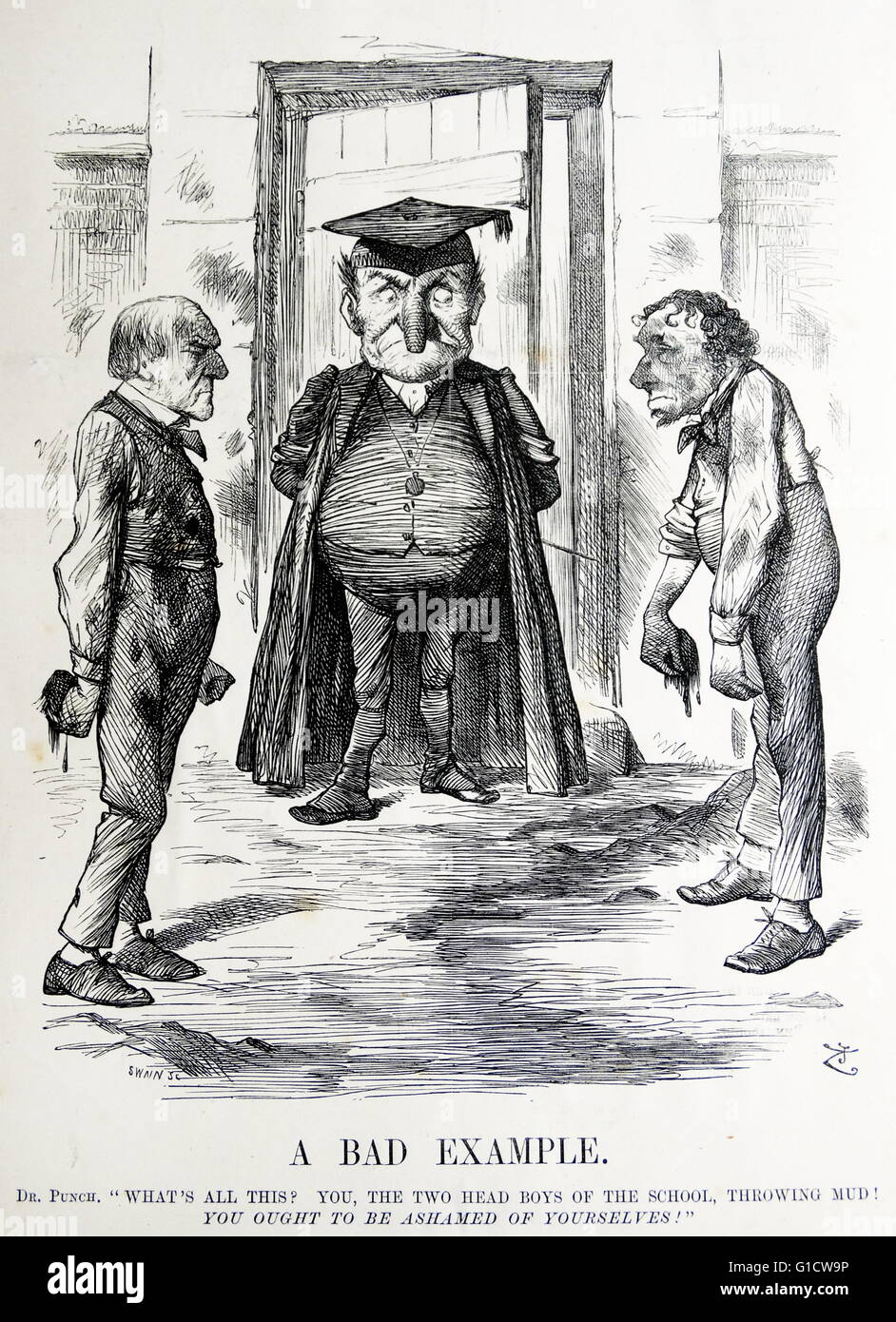 Political Satire Depicting William Ewart Gladstone 1809 1898 And