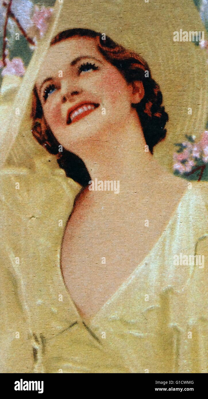 Billie Seward, a 1930s motion picture actress from Philadelphia, Pennsylvania. Dated 20th Century - Stock Image