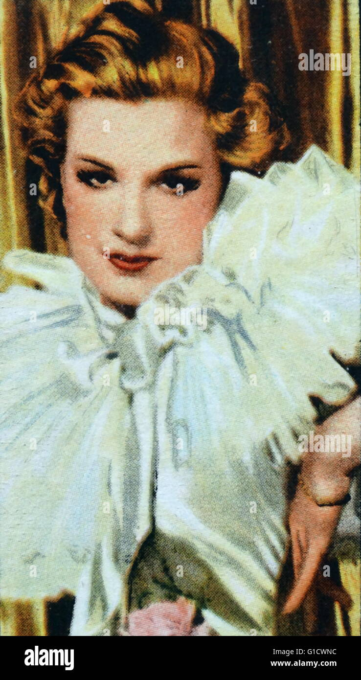Lili Damita (1904-1994) a French-American actress and singer. Dated 20th Century - Stock Image