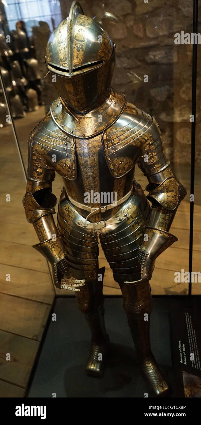 Armour of Henry Frederick, Prince of Wales (1594-1612) the elder son of King James I & VI and Anne of Denmark. Dated 17th Century