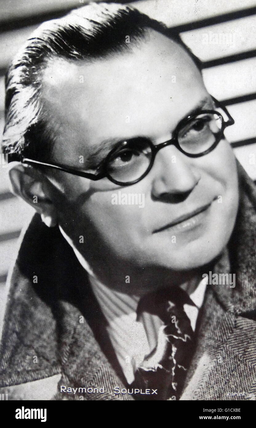 Raymond Souplex (1901-1972) a French actor and singer. Dated 20th Century - Stock Image