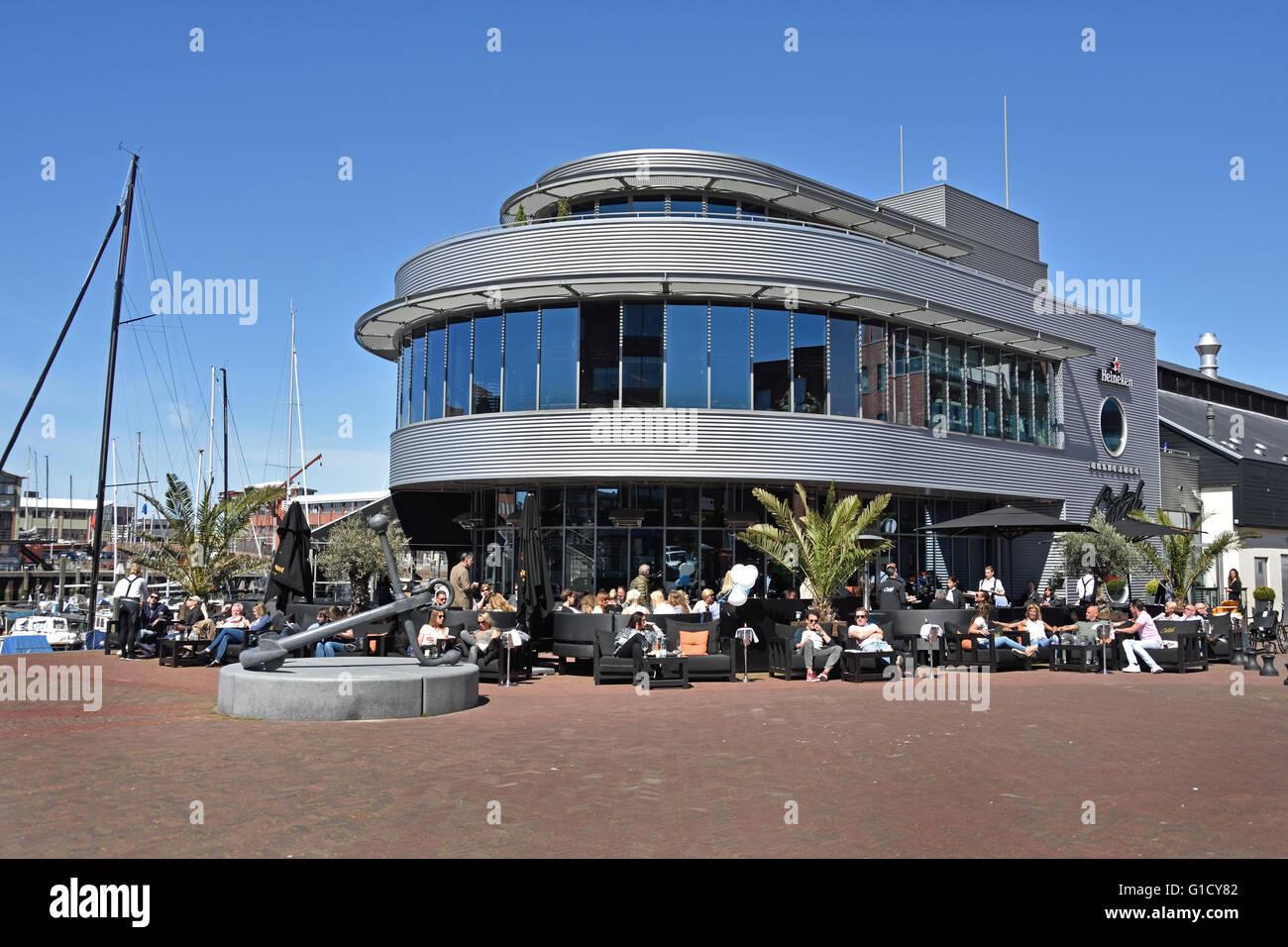 Bar Restaurant Catch Port Schevenigen ( Doctor Lelykade Vissershaven ) The Hague Netherlands Dutch - Stock Image