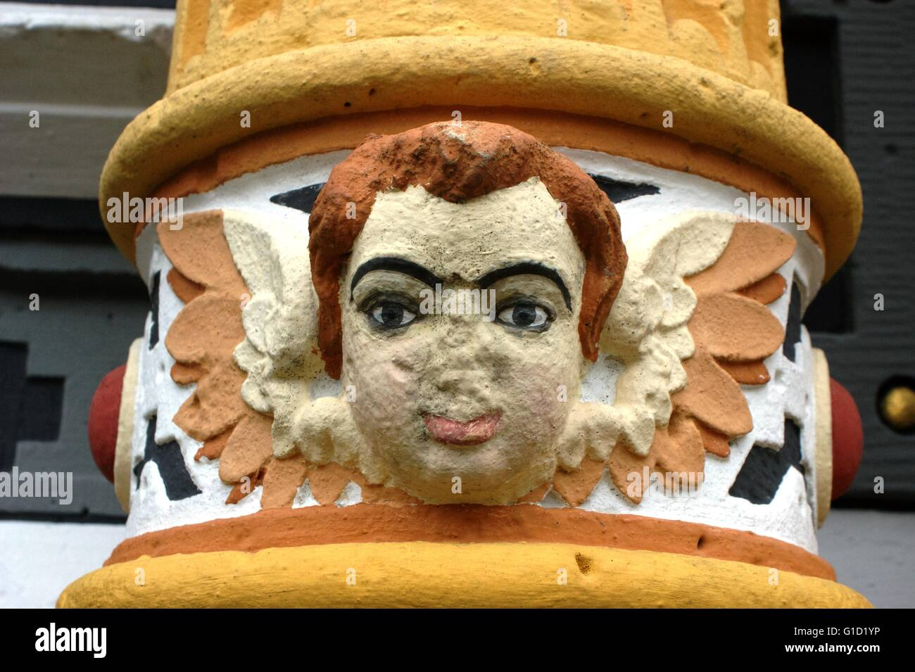 Hannoversch Muenden - medieval historical house. Hann. Münden in Germany, town, Lower Saxony.. Angel Face 4 of 4, Stock Photo