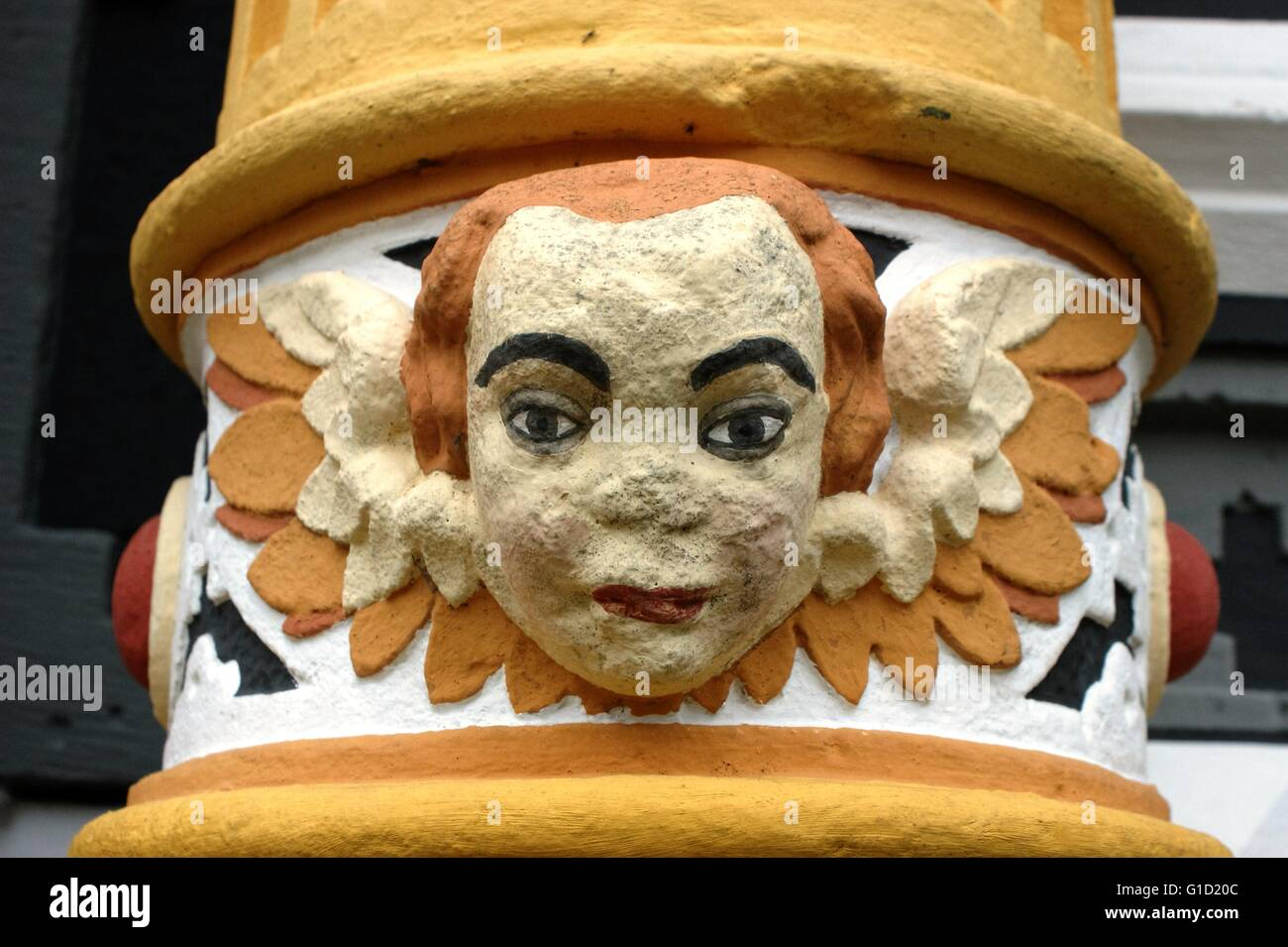 Hannoversch Muenden - medieval historical house. Hann. Münden in Germany, town, Lower Saxony.. Angel Face 2 of 4, Stock Photo