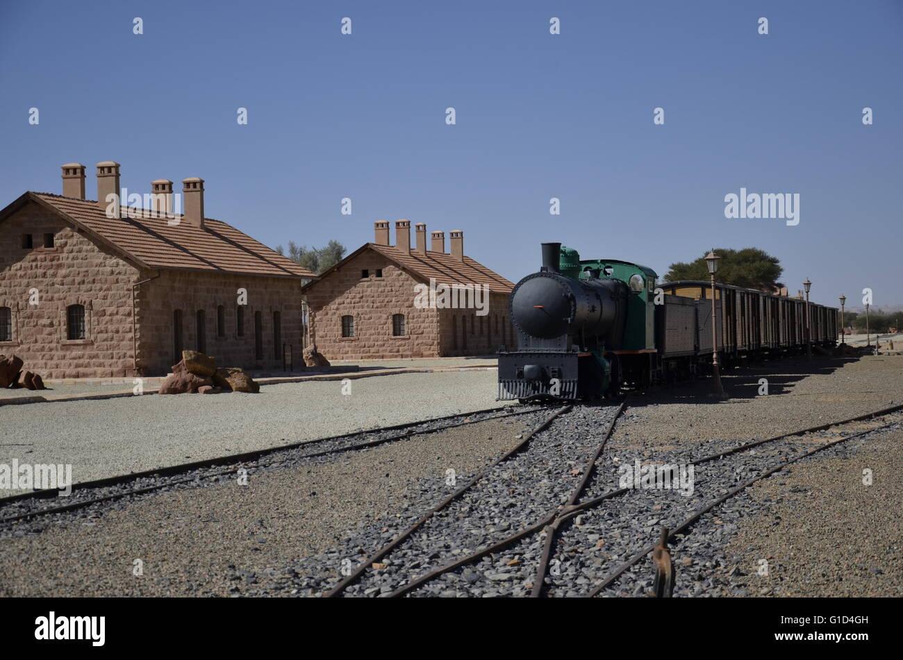 Hejaz Railway, Madain Saleh Station, Al Ula , Saudi Arabia. It was train main station Madain Saleh Station, Al Ula - Stock Image