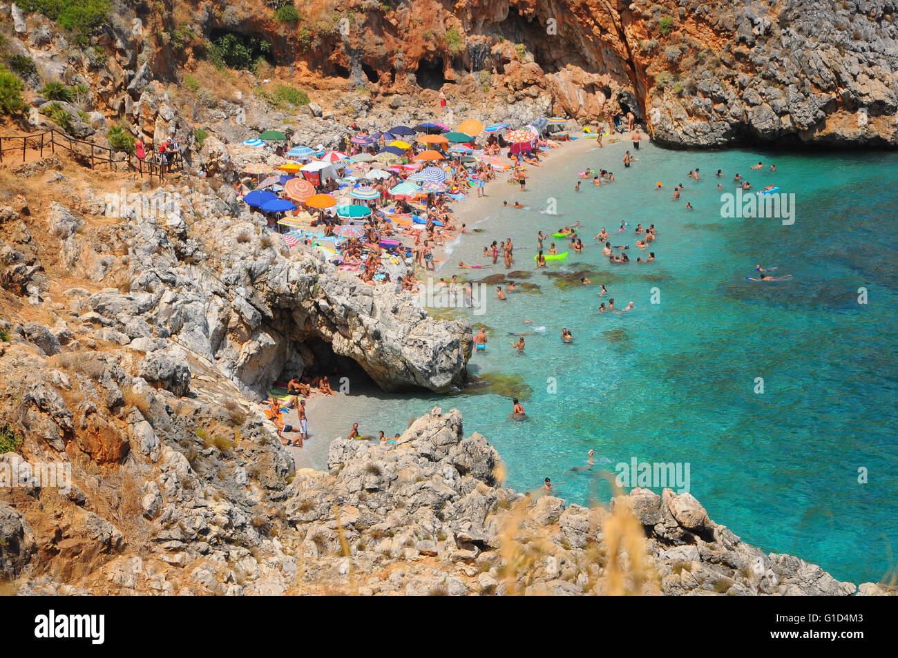 Sicily, San Vito lo Capo beach, italy Stock Photo
