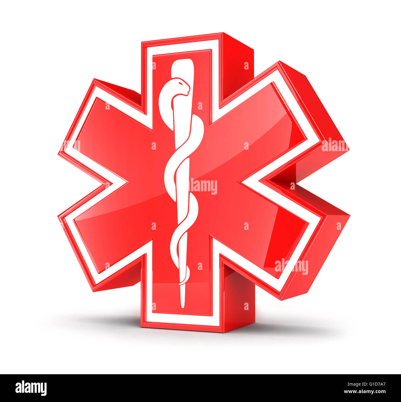 Symbol Star Of Life Done In 3d Stock Photo 104168015 Alamy