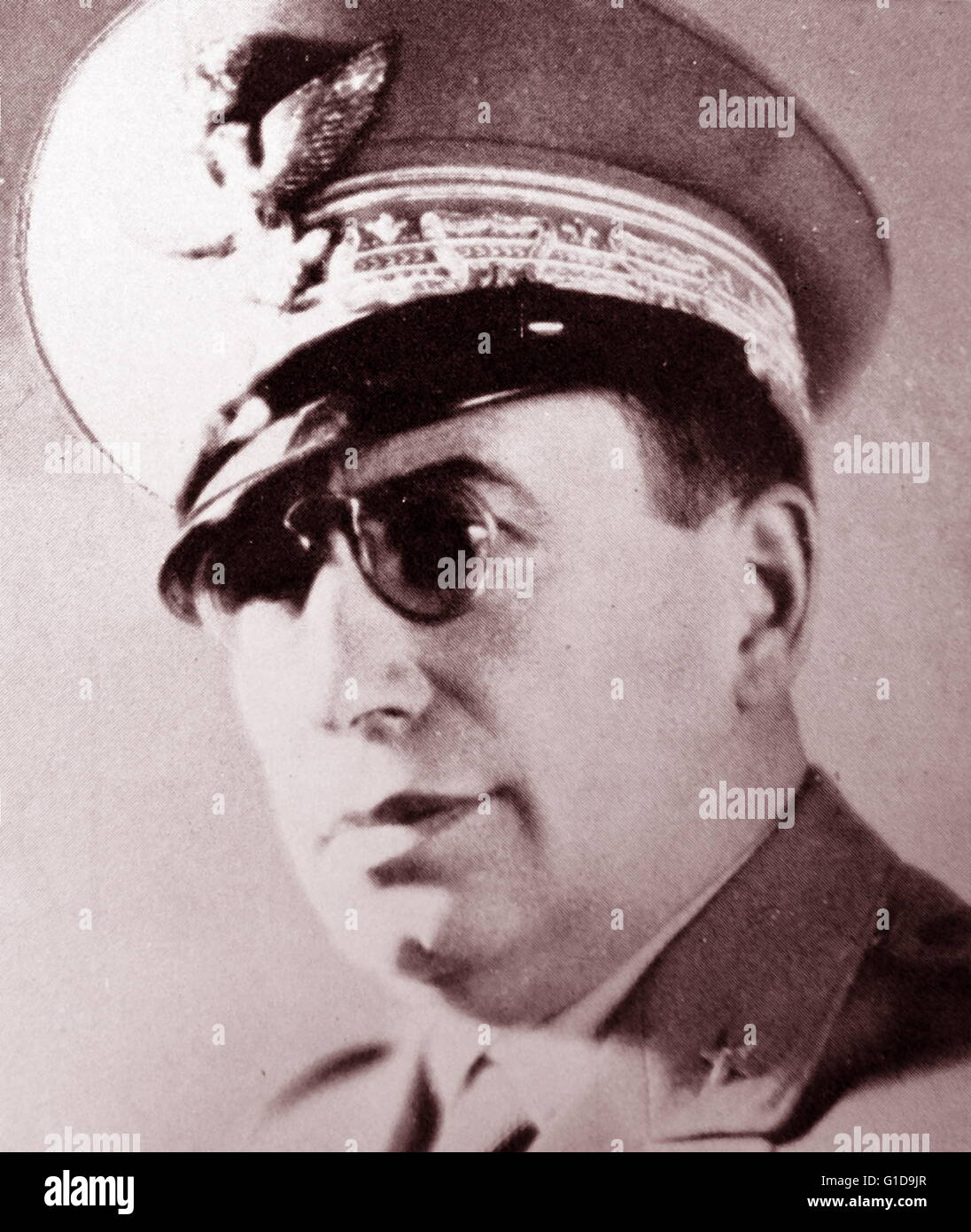 Mario Roatta (1887 – 1968) Italian general, best known for his role in Italian Second Army's repression against - Stock Image