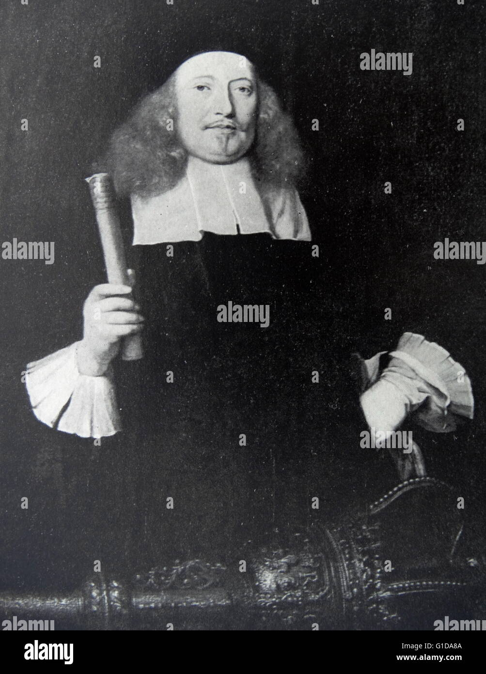 Sir Edward Turnour 1617-1676 Speaker of the house of commons 1661-1671. Stock Photo