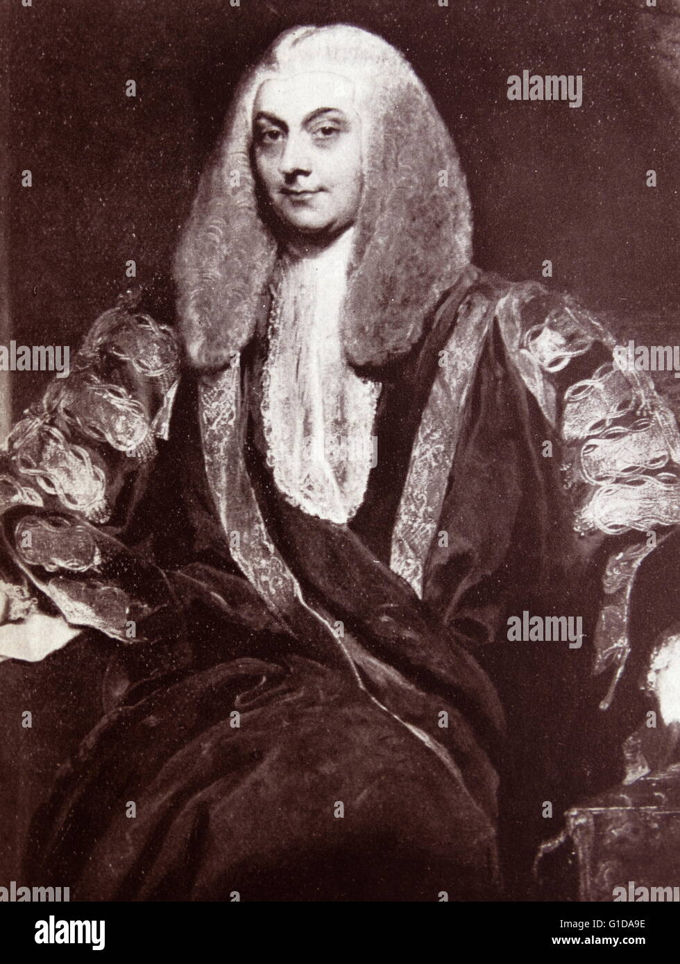 Sir John Freeman-Mitford (1748-1830) Speaker of the house of commons 1801-1802. Painting in the Speaker's house. - Stock Image