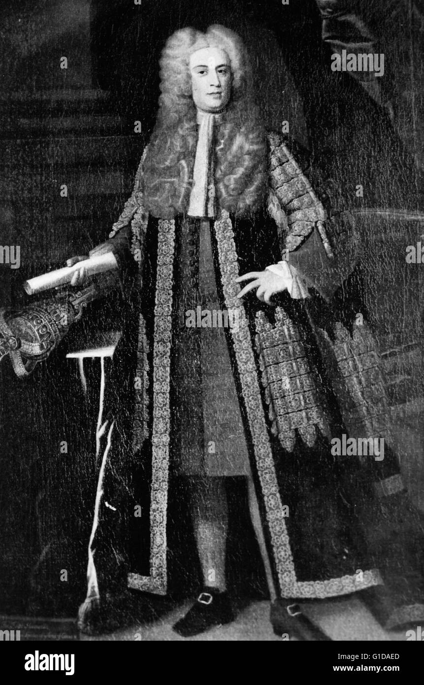 Arthur Onslow 1691-1768 English politician. Speaker of the House of Commons 1728-1761. Longest serving speaker in - Stock Image